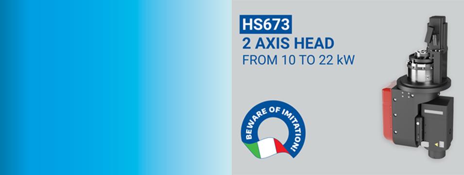 Compact & Modular 2 Axis Head: Discover the HS673